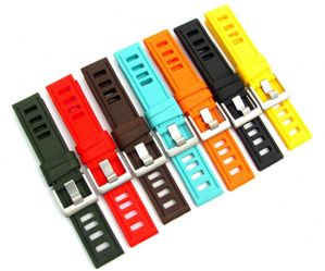Silicone Watch Strap ISO Ladder Style 20mm 22mm 24mm C087